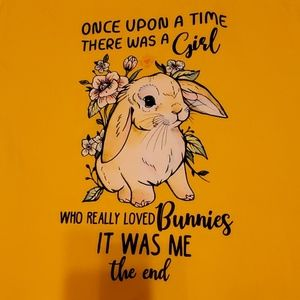 Graphic T Shirt Love Bunnies Size Large NEW